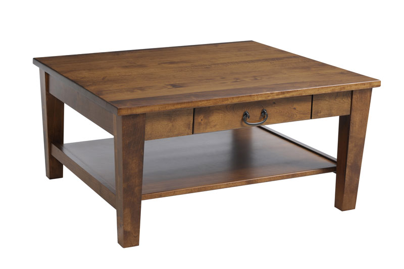 Urban Shaker 517 Square Coffee Table with Drawer