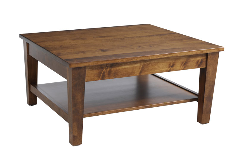 Urban Shaker Square Coffee Table In Solid Hardwood Ohio Hardwood Furniture