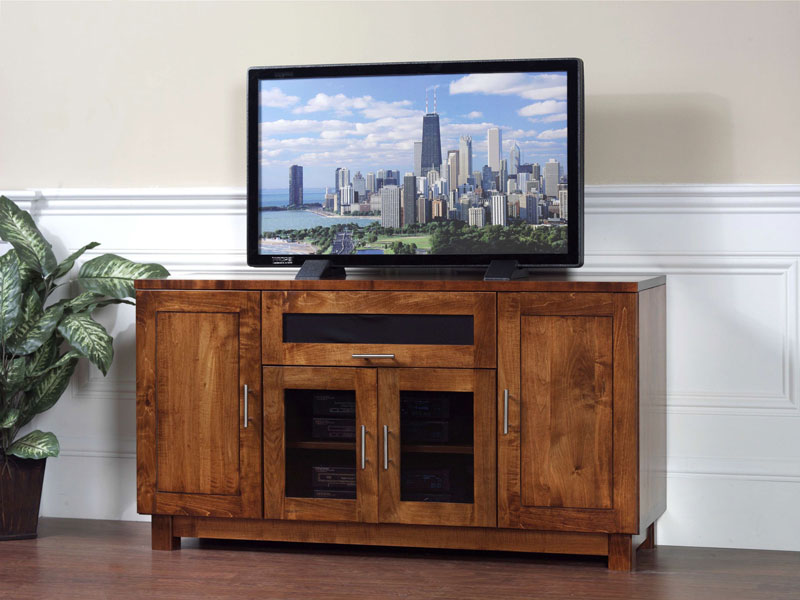 Urban Fold Out Door Tv Stand In Solid Hardwood Ohio