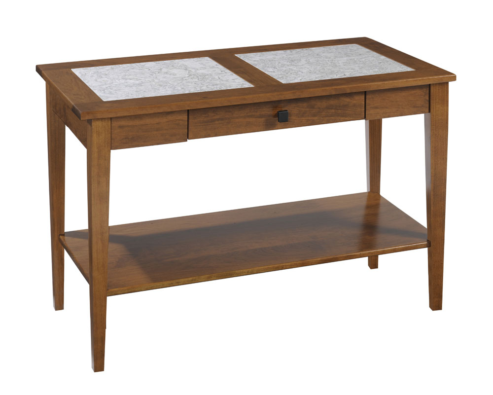Shaker Cambria Sofa Table In Cherry With An OCS 104 Seely Stain. Hardware  Is 55271