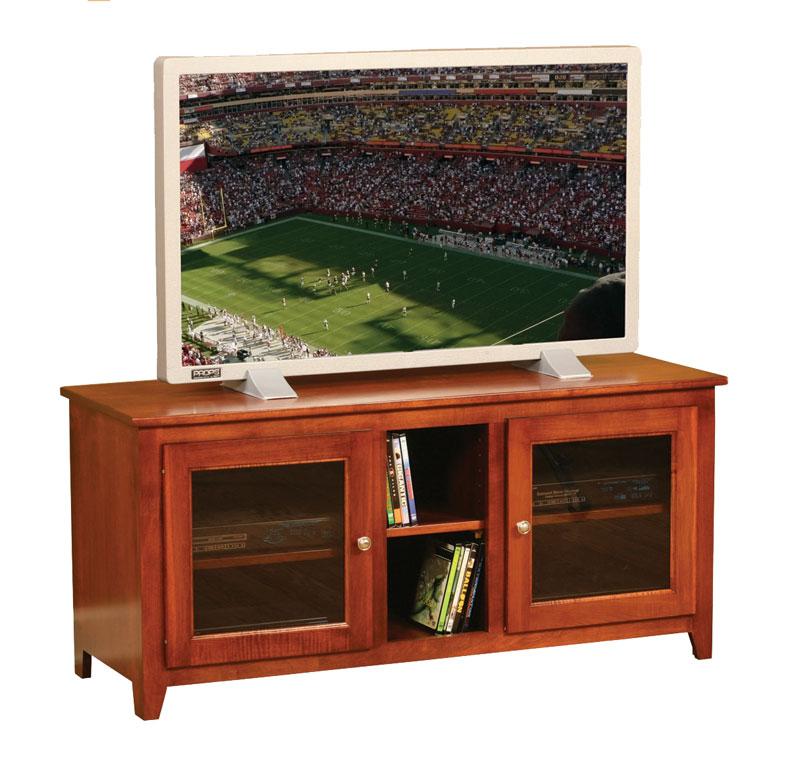 economy wide two glass door tv stand in solid hardwood ohio hardwood furniture