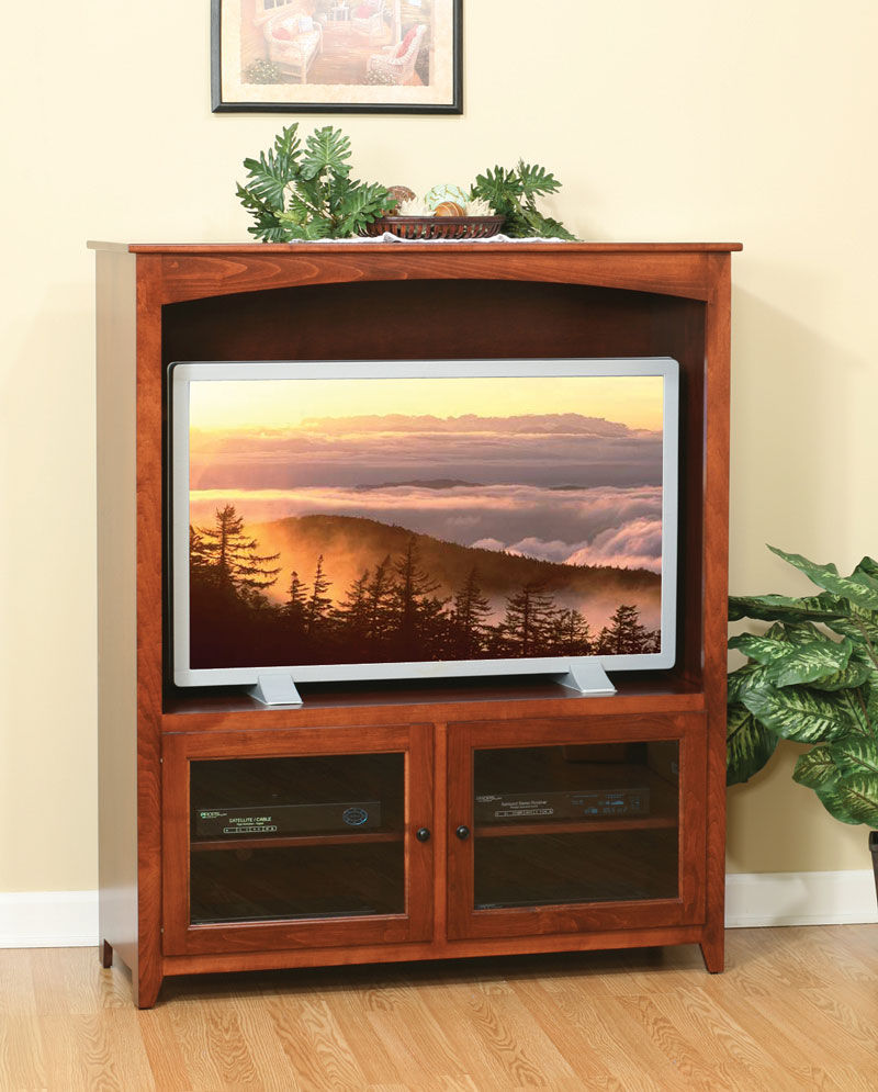 Economy 50 inch TV Stand with Glass Doors