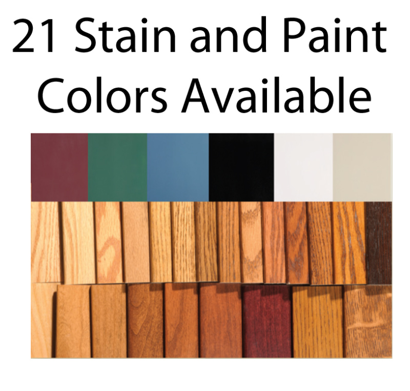 21 Stain and Paint Colors Available for the Economy Series