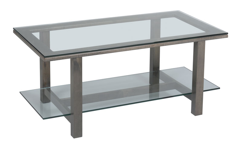 Hilton Glass Top Coffee Table Ohio Hardwood Furniture - Maple and glass coffee table