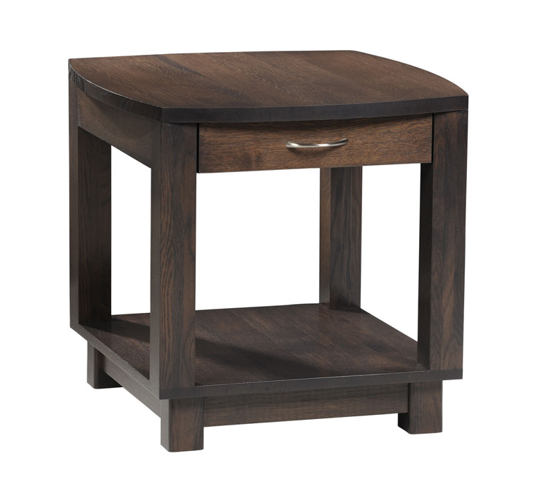 Urban Bow Top 502 End Table with Drawer