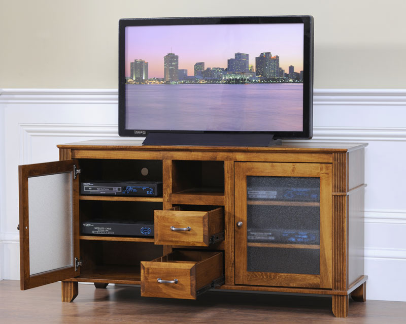 "Arlington 60"" Wide TV Stand in Quartersawn White Oak with O.C.S. 113 Stain"