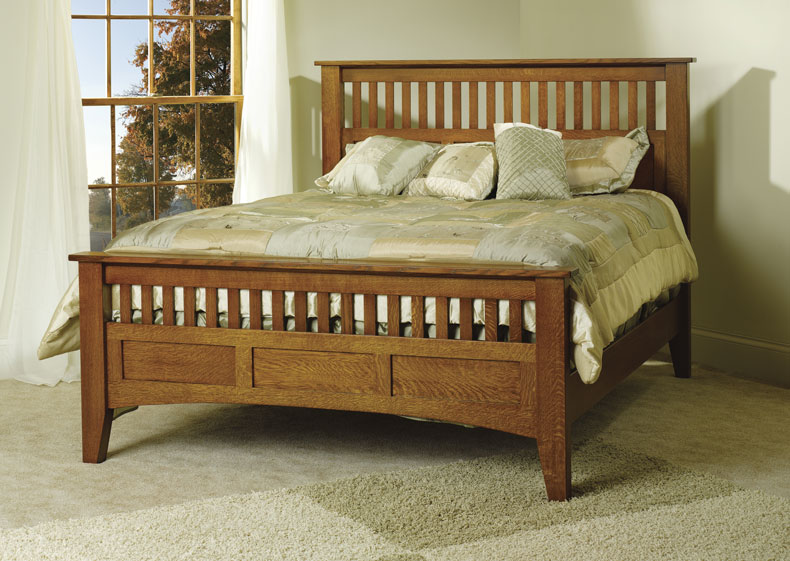 Mission Antique Bed Ohio Hardwood Amp Upholstered Furniture