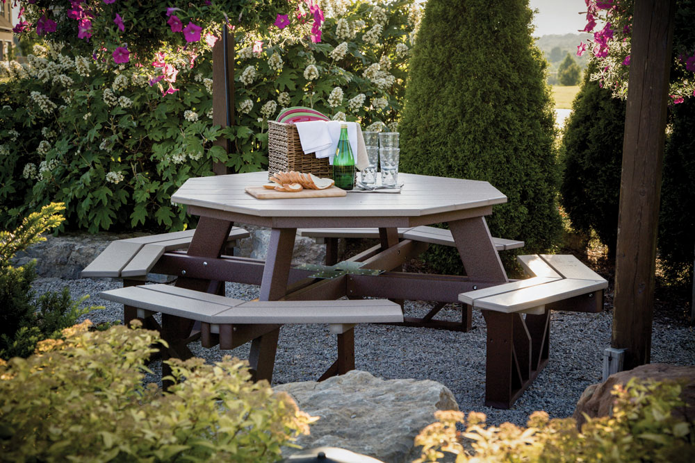 octagon poly picnic table - ohio hardword & upholstered furniture