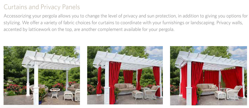 Pergola Curtains Privacy Panels And Dia Shade Ohio
