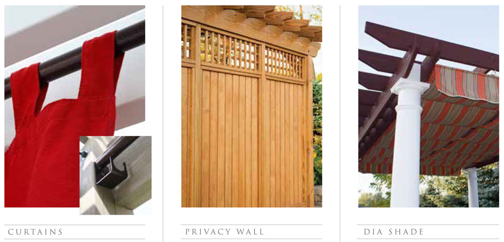 Pergola Curtains, Privacy Panels and Dia Shade