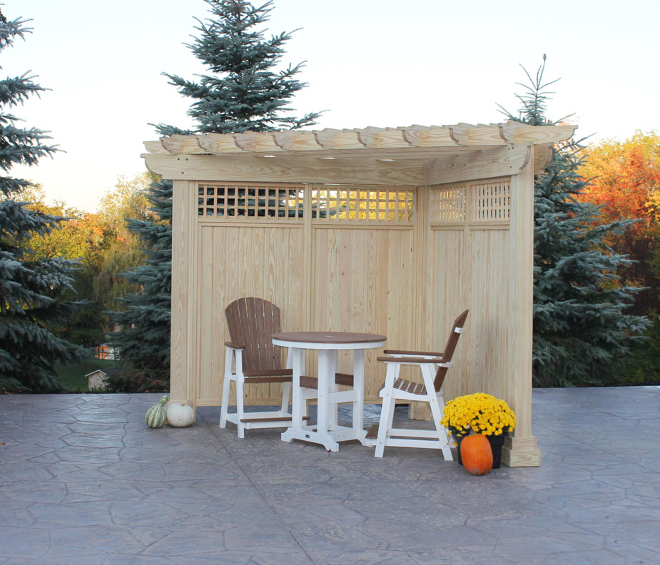 Alcove Wood Pergola Ohio Hardwood Furniture