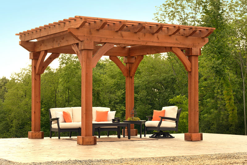 Cedar wood pergola ohio hardwood furniture for Photos de pergolas