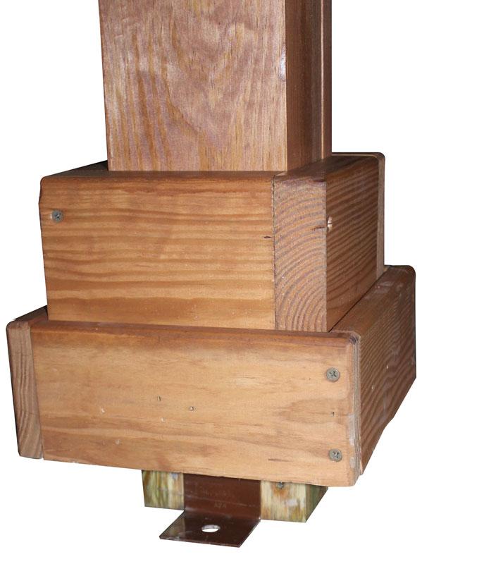 Hidden Anchors On Cedar Wood Pergolas
