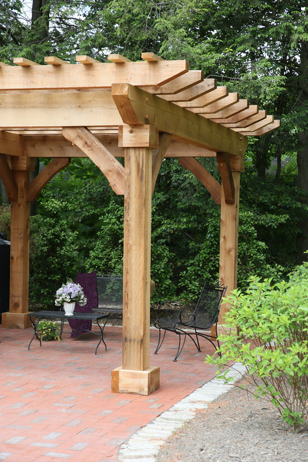 Phoenix Cedar Wood Pergola Ohio Hardwood Furniture