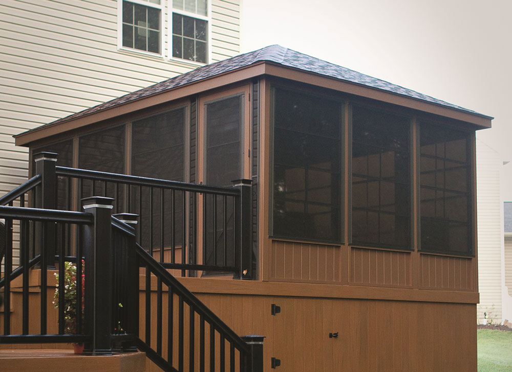 12' x 16' Madison Treated Wood Gazebo with a Regular Roof and Optional 3-Season Sunroom Package