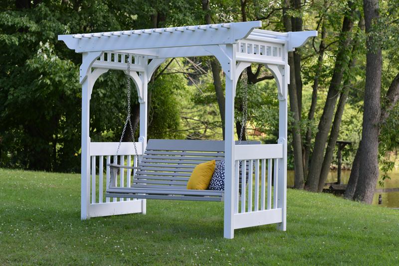 Vinyl Swing Arbor Ohio Hardwood Furniture