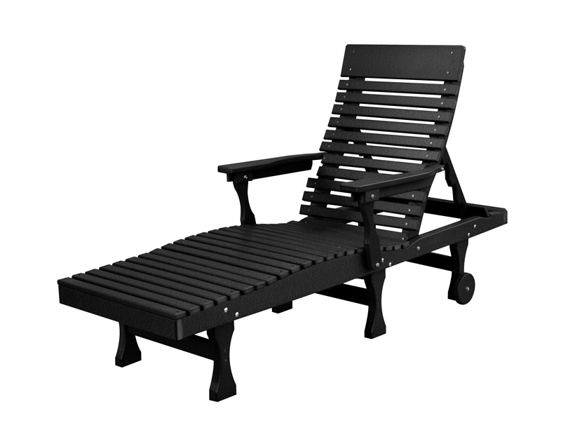 Casual-Back Chaise Lounge