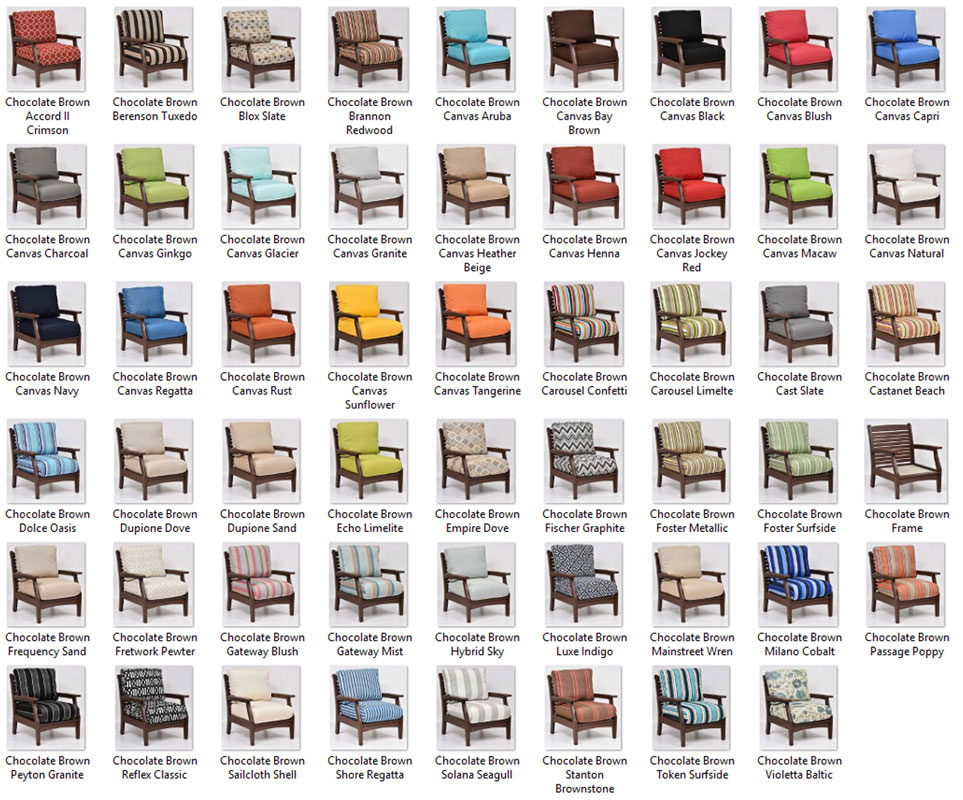 Classic terrace club chair ohio hardwood furniture for Terrace color combination
