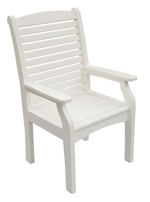 Classic Terrace Dining Chair in White