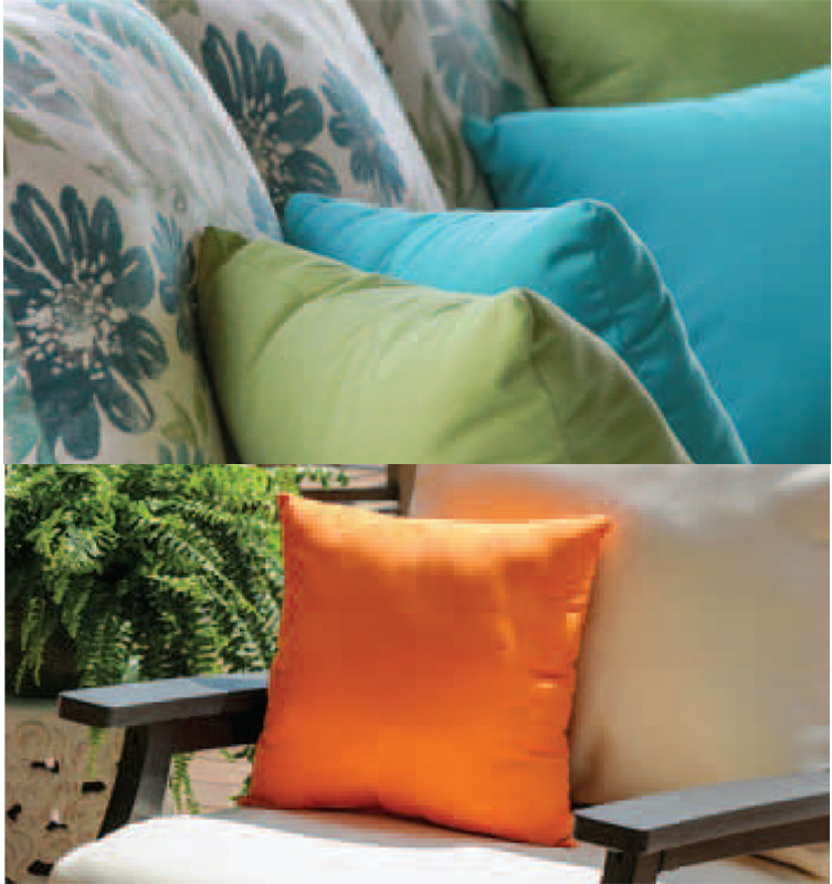Sunbrella Seat and Back Cushions and Throw Pillows