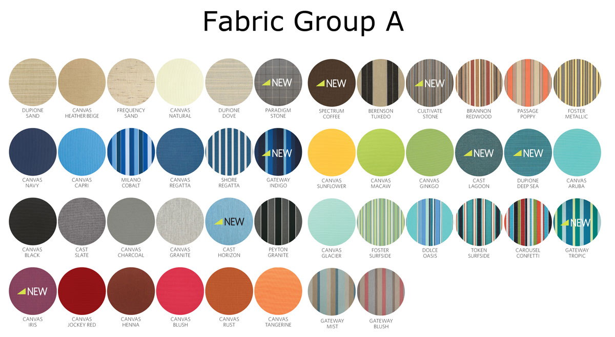 Sunbrella Cushion Fabrics - Group A