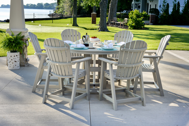 "Garden Classic 60"" Round Table at Counter Height with Comfo-Back Chairs (sold separately)"