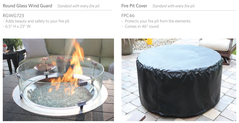Donoma Poly-Top Fire Pit Standard Features