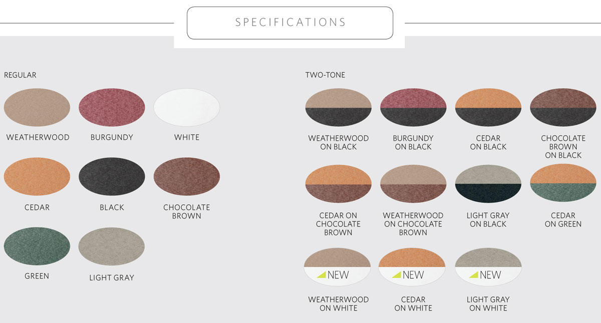 Donoma Poly Top Counter Height Fire Table Color Chart