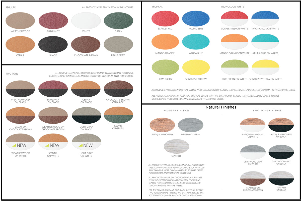 Poly Color Chart