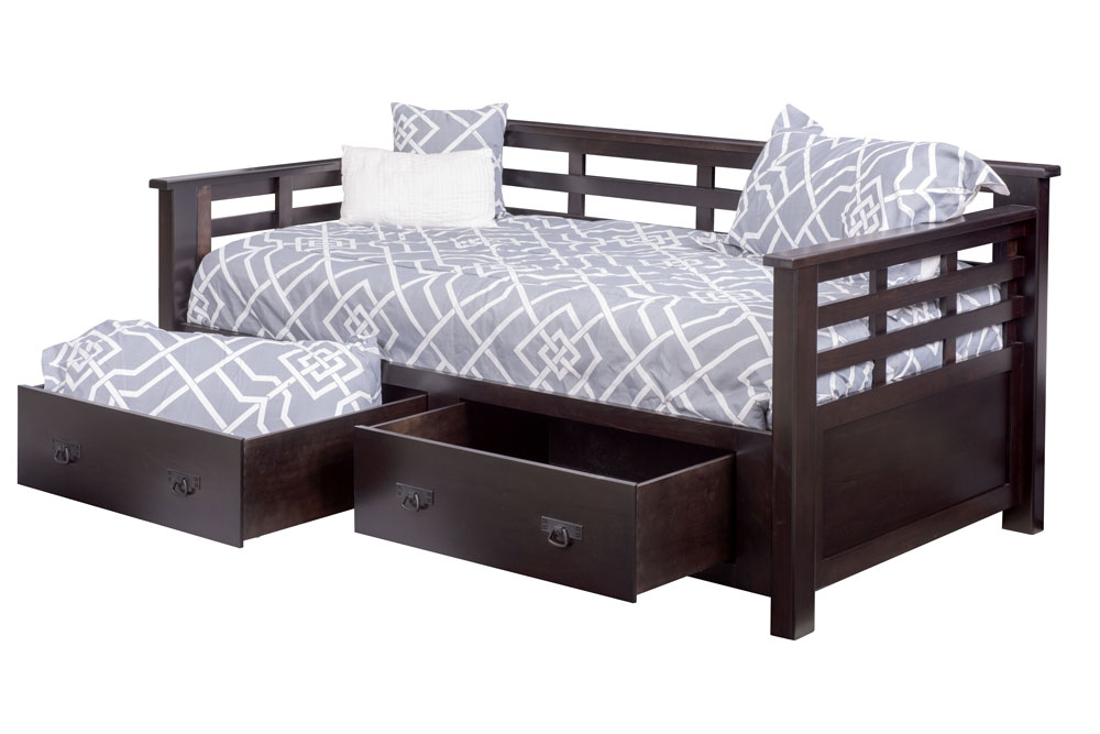 Addison Day Bed with Optional Underbed Storage Drawers, in Cherry