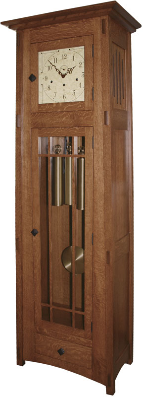 mission style grandfather clock