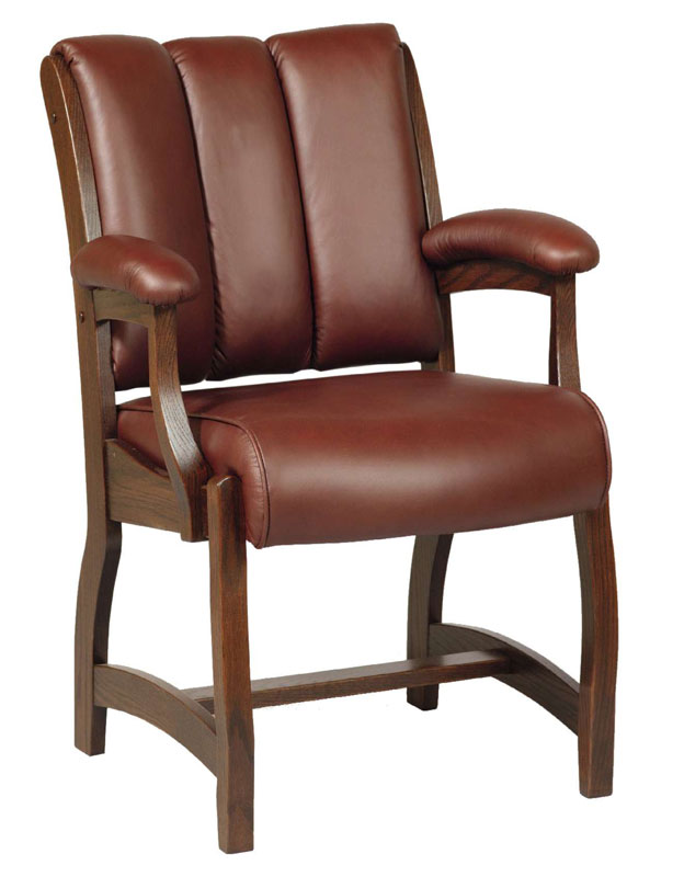 Edelweiss Client Chair with Leather