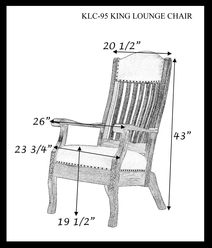 King Lounge Arm Chair Dimensions