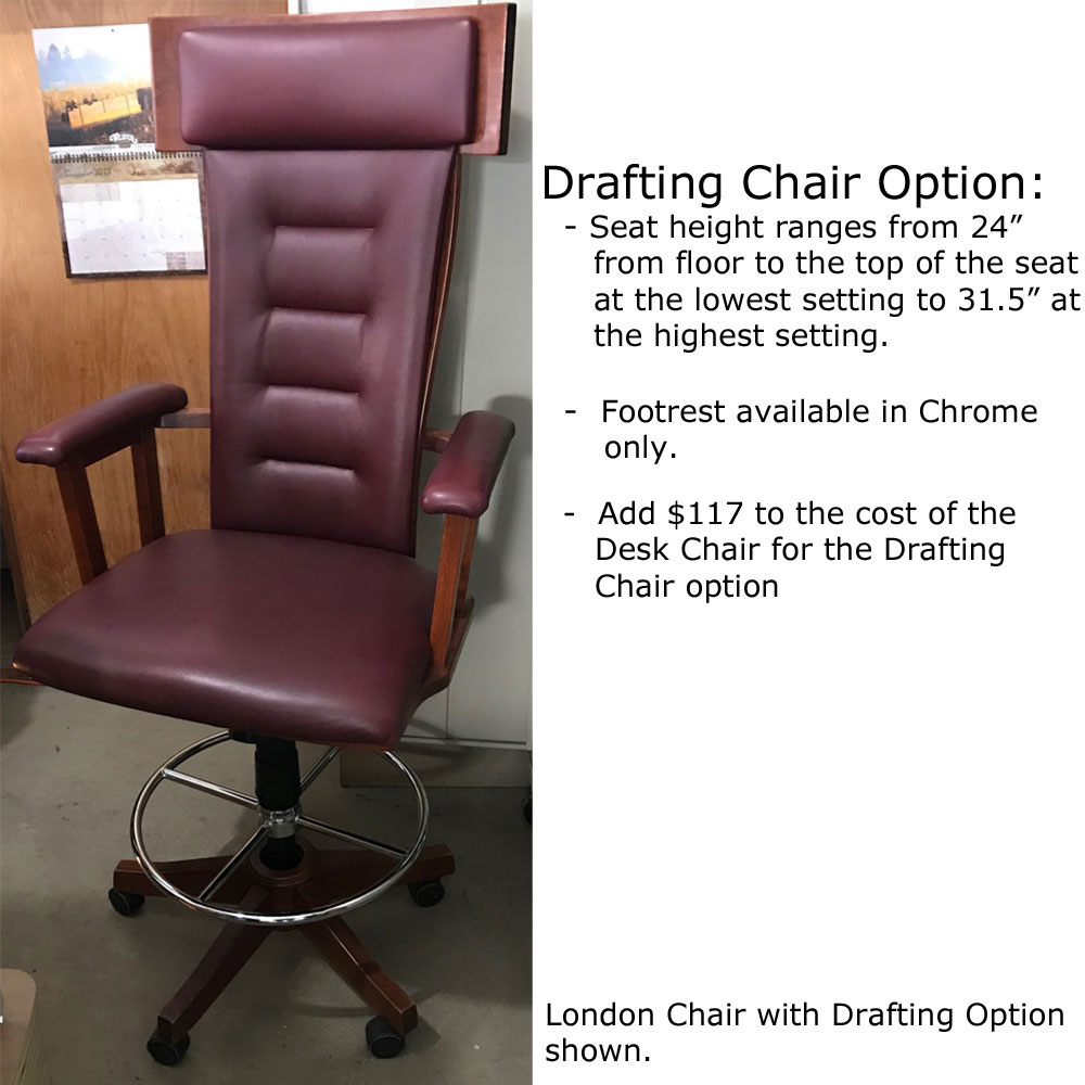Drafting Chair Option for Desk Chairs