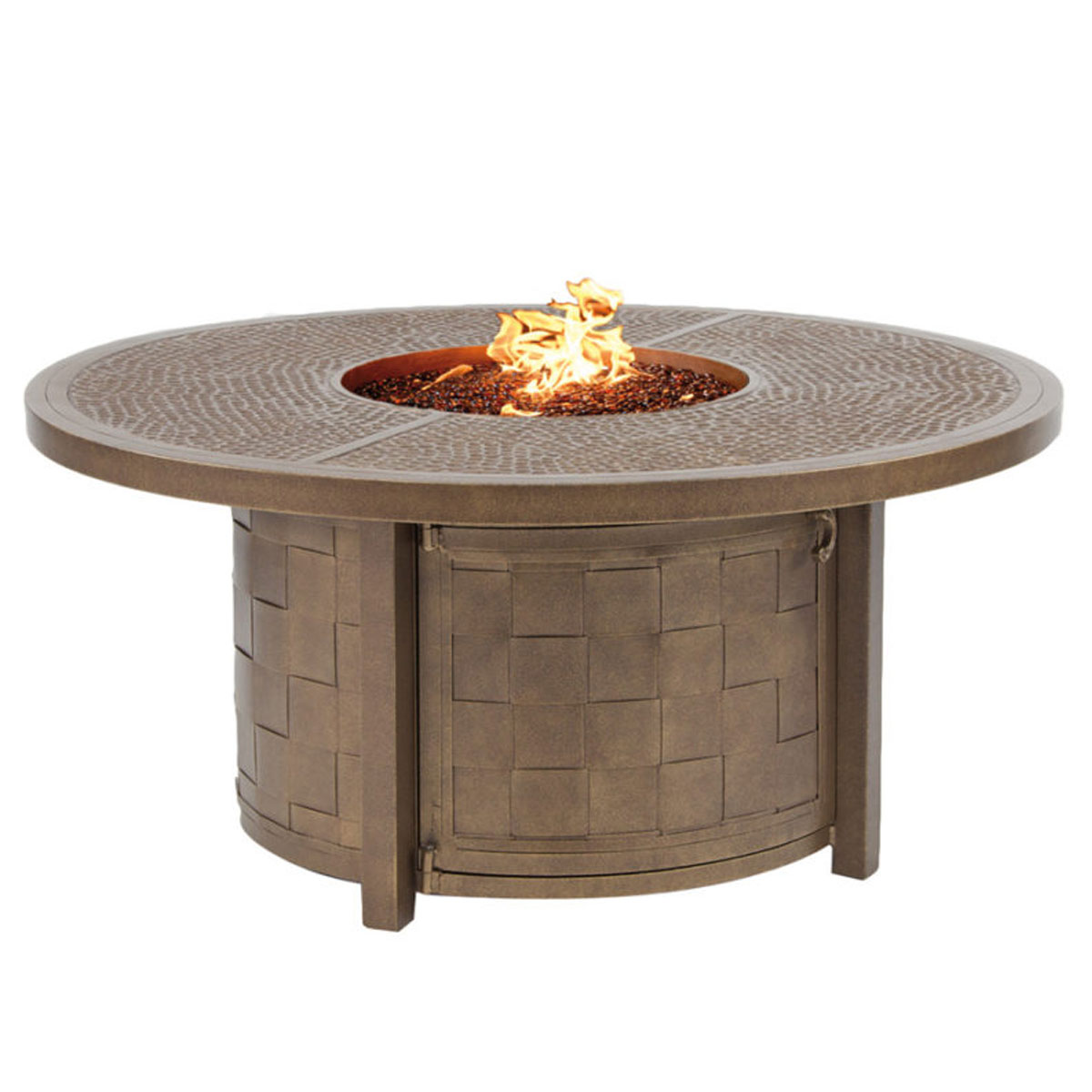 Castelle 49 inch Classical Round Firepit Coffee Table