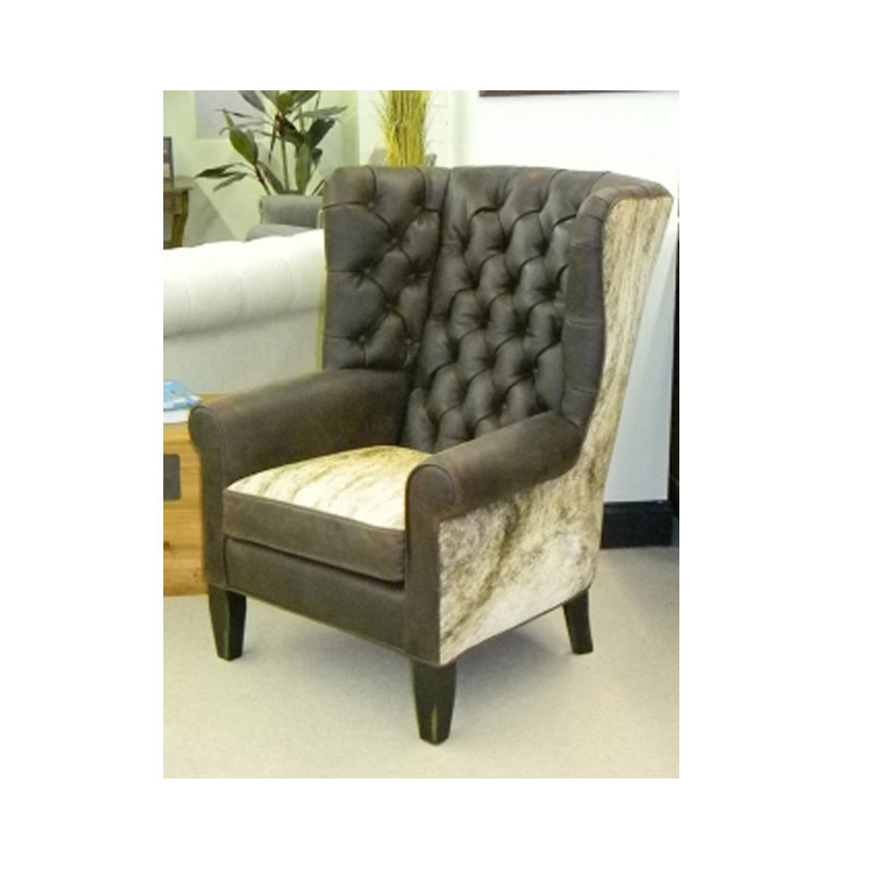 CC Leather 888 Wing Chair