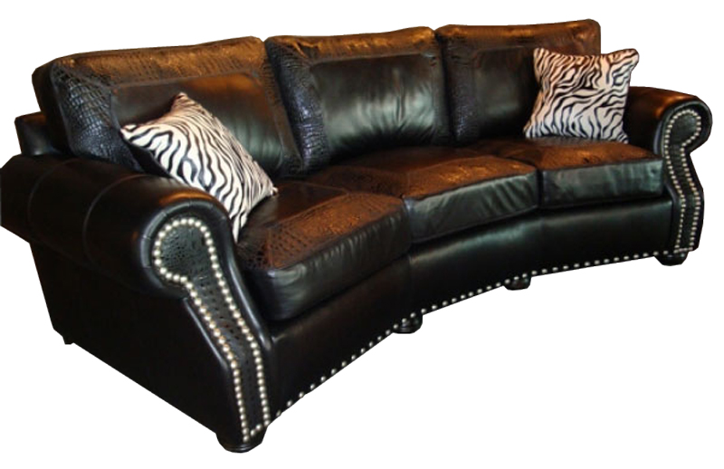 CC Leather 240 Austin Sofa - Ohio Hardwood Furniture