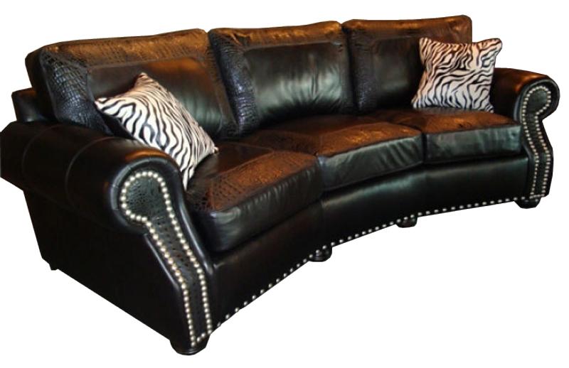 CC Leather 240 Austin Sofa - Ohio Hardwood Furniture
