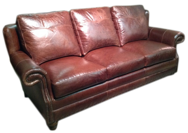 Carolina Custom Leather 249 03 Houston Sofa