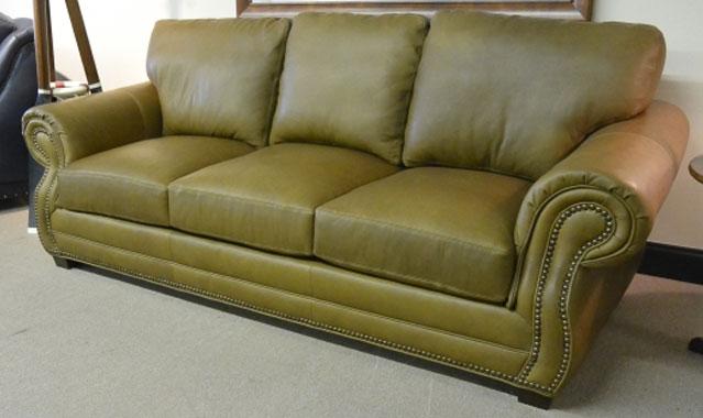 Carolina Custom Leather 273 03 Easton Sofa