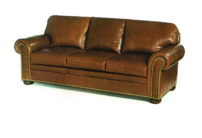 Charmant Carolina Custom Leather 370 Conover Sofa