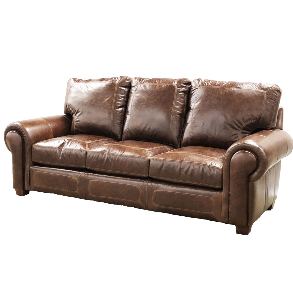 CC Leather 540 Dallas Sofa - Ohio Hardwood Furniture
