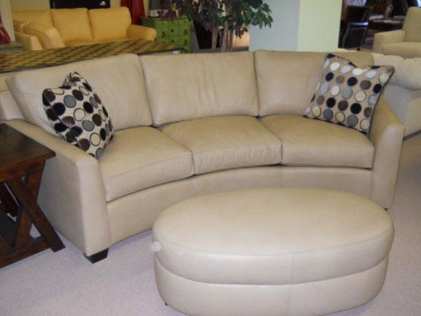 CC Leather 780 Paris Curved Sofa- Ohio Hardwood Furniture