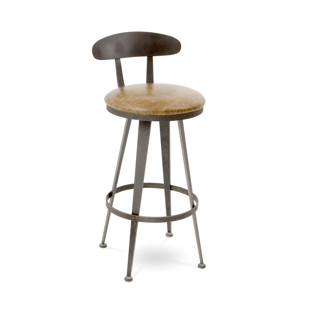 Charleston Forge Aries Swivel Barstool with Back