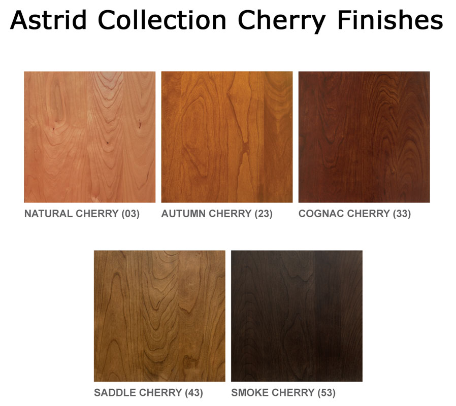 Astrid Collection Cherry Finishes