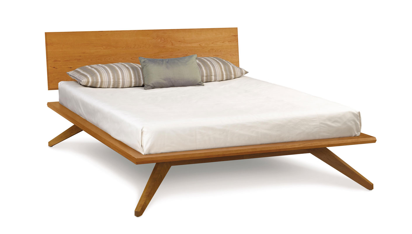 Copeland Astrid Bed with 1 Headboard Panel in Cherry
