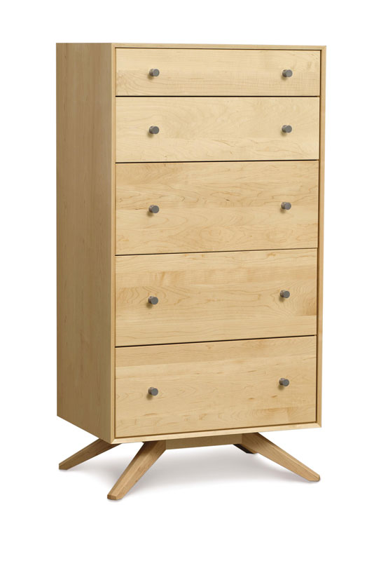 Copeland Astrid 5 Drawer Chest in Maple