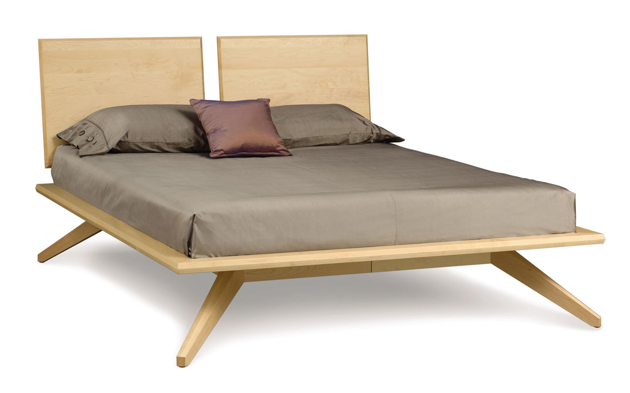Copeland Astrid Bed with 2 Headboard Panels in Maple