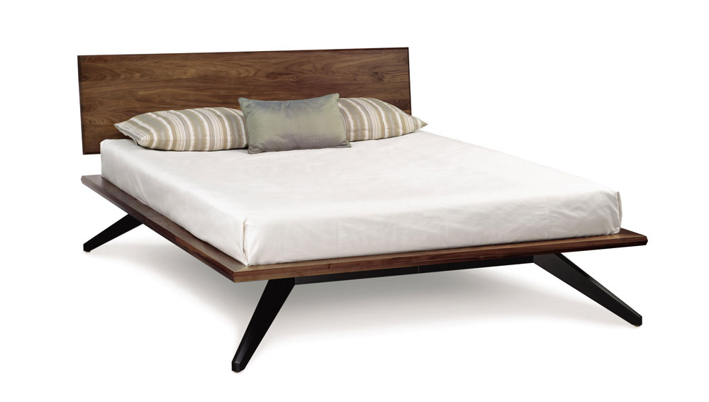 Copeland Astrid Bed with 1 Headboard Panel in Walnut