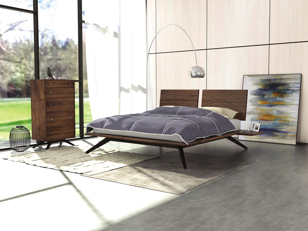 Astrid Bedroom in Walnut  and Dark Chocolate Finish on Solid Maple